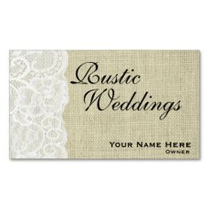 Unusual business cards for event planner order 100 wedding rustic burlap and lace wedding planner business card make your own business card with this great design all you need is to add your info to this template fbccfo Choice Image