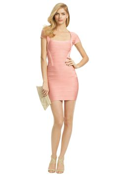Hervé Léger Guys Kind Of Girl Dress - It doesn't get much better than this pink Herve Leger masterpiece - sexy, stylish, sophisticated - this dress has it all! We're sure you'll feel like a million bucks at your next formal if you choose this dress!!