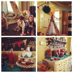 Indian Pow wow themed birthday party... cute cute cute !!!