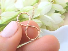 Rose Gold Infinity Necklace Best Friend Infinity by Crystalshadow