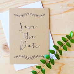 Rustic Save the date #relaxed wedding #laidbackwedding
