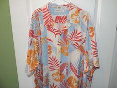 Tommy Bahama Designer Big Man Hibiscus Hacienda Floral Hawaiian Shirt 2XL NWT #TommyBahama #Hawaiian
