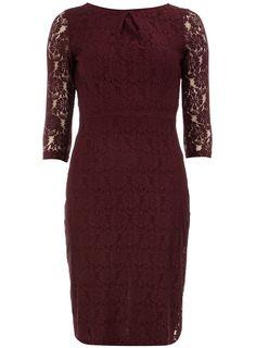 Port 3/4 sleeve lace dress  #DorothyPerkins