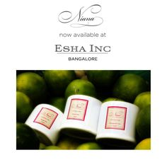 Niana, now available at the beautiful store - ESHA INC, Bangalore !  . . #NianaAtEshaIncBangalore #NowAvailable #EshaInc #Bangalore #Bengaluru #Niana #Natural #Ecofriendly #Homedecor #Candles #SoyCandles #ScentedSoyCandles #HomeFragrance #Fragrance #Exotic #Relax #Handcrafted