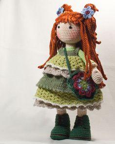 Crochet pattern for doll ELLIE pdf Deutsch English por CAROcreated