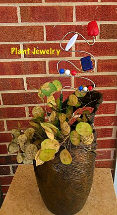 Unique Trendy Plant Jewelry for House and Garden Plants by L R on Etsy