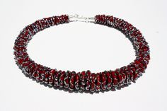 Fantasia Collection www.lorettidesign.com Flame worked glass, silver & leather necklace