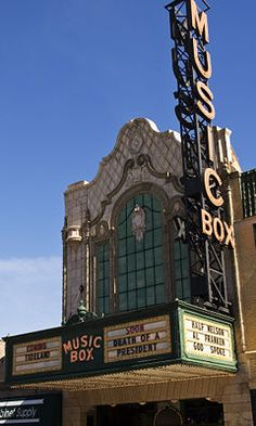 """The Music Box Theatre at 3733 N. Southport Ave., Chicago, Illinois, opened on August 22, 1929, a time when the movie palaces in downtown Chicago each had seating capacities of around 3,000 people. The Music Box, which sat 800, was considered an elaborate little brother to those theatres. Theatre Architecture magazine noted in 1929 that the theatre """"represents the smaller, though charming and well equipped, sound picture theatre which is rapidly taking the place of the 'deluxe' palace."""""""