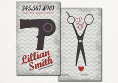 Hair Salon Business Card Premade Hair by LeesaDykstraDesigns