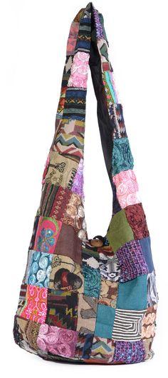 ca47b331e6 £19.99 Hippie Sling Bag Thai Textile Paches Shoulder Bag