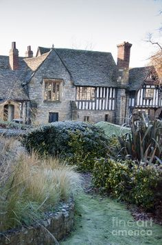 The Almonry Museum on frosty winter's morning, Evesham, Worcestershire