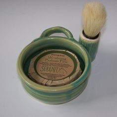 Dad Loves Green Shaving Mugs by Pottery