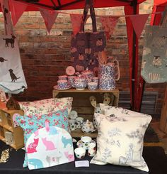 Willow Bell at Knutsford Makers Market, Staffordshire Fine Bone China, Tea Cosies, Cushions & Bags
