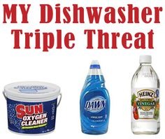Sparkly Clean Dishes   ~No premixing, simply replace your dishwasher detergent & rinse agent for ever!