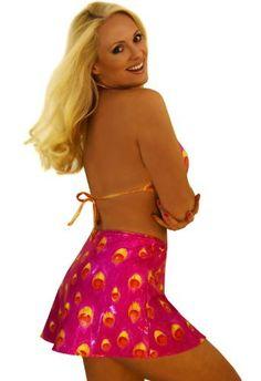 Pink Peacock Swim Skirt Coverup  Price : $42.00 http://www.jackiesboutique.com/Pink-Peacock-Swim-Skirt-Coverup/dp/B00G2PKNOU