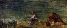 Fisherman on the Rocks, 1864 Paul Cezanne