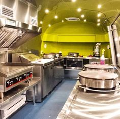 This 1972 Airstream Land Yacht was transformed by Timeless Travel Trailers into a mobile gourmet kitchen for the Denver company, Crepeful Food Truck.