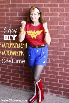 How To Make A Wonder Woman Costume 88 Other Diy Costumes Kids Ideas Pinterest And