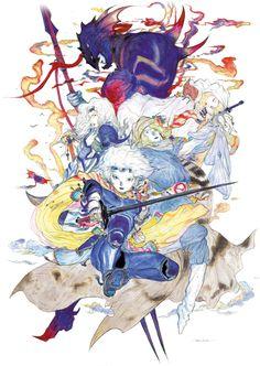 yoshitaka amano - final fantasy IV