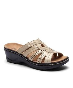 Details about Clarks Soft Cushion Taupe Leather Lace Up Cork Wedge Heel Comfort Shoe Sandals 9