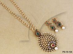 PS-15-104 || Bakul Flower Pendant Sets