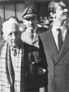 Já como governador, em 1955, Jânio Quadros recebe o marechal Cândido Rondon, em São Paulo