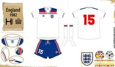 England home kit for the 1982 World Cup Finals.