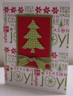 Christmas card for two challenges - WT348 (create a 3D object) and F4A85 (create your own background paper). Uses only SU! products. For more details, check out my blog: http://stampingwithloll.blogspot.ca/2011/11/sketch-challenge-sc356.html