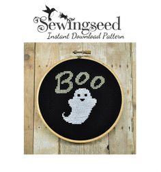 INSTANT DOWNLOAD Ghost Cross Stitch Pattern