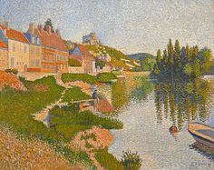Paul Signac (1863-1935), Les Andelys, la berge, 1886, oil on canvas, 65 x 81 cm,  Musée d'Orsay Les Andelys, the Riverbank