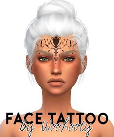 Sims 4 cc& - the best: face tattoo by woohooty Sims 4 Cc Skin, Sims Cc, Sims 4 Mods, Living Room Sims 4, Healthy Dinner Recipes, Healthy Snacks, Sims 4 Tattoos, Sims 4 Controls, Sims 4 Cc Shoes