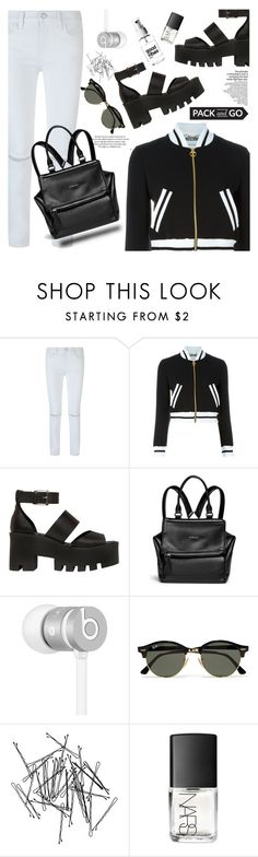 """""""PACK AND GO!"""" by jade-714 ❤ liked on Polyvore featuring Rebecca Minkoff, Moschino, Windsor Smith, Givenchy, Beats by Dr. Dre, Ray-Ban, Monki, NARS Cosmetics and Packandgo"""