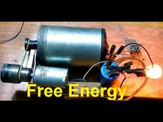 Self running generator | free energy | using 3 dynamo motor and capacitor. - YouTube