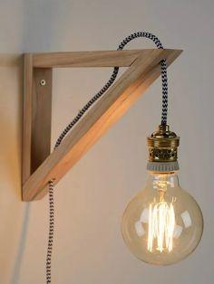 velador de madera edison personalizado. envio gratis Diy Bedroom Decor, Diy Home Decor, Blitz Design, Diy Lampe, Lampe Decoration, Edison Lamp, Wood Lamps, Scandinavian Interior, Lamp Design