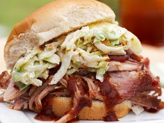 Pulled Pork Sandwiches recipe from Patrick and Gina Neely via Food Network