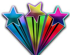 love this colorful star design - love that it goes upward