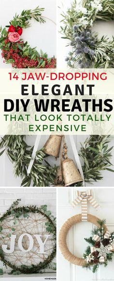 These DIY holiday wreaths are so pretty! I love that they are simple to make, yet they look totally expensive!