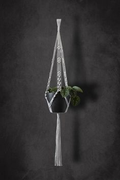 Plantador de macrame planta suspensión Natural algodón macramé