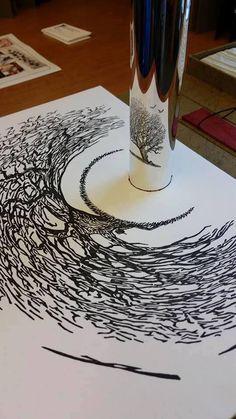 Round mirror tree