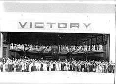 Victory aircraft at Malton, Ontario, WWII.  The Malton plant received a contract on 18 September 1941 to build the Avro Lancaster Mk X heavy bomber.