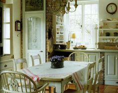 """English Home magazine. Suspiciously like the kitchen in Lionel's country home in the British TV show """"As TIme Goes By."""""""