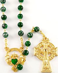 St Patricks Day Rosary Beads /& Prayer Book Set St Patricks Day Special Gifts