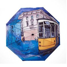 Compact Umbrella for Travel Camping Windproof Picture Printing Light Rain Sun with UV Protection for Girls Women [ Blue HongKong Bus ] by TOPCOMWW Uv Umbrella, Funny Umbrella, Best Umbrella, Compact Umbrella, Folding Umbrella, Amazon Online Shopping, Discount Online Shopping, Shopping Deals