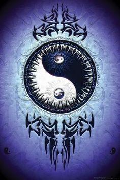 ying yang blue purple picture and wallpaper Arte Yin Yang, Yin Yang Art, Yin Yang Tattoos, Symbole Ying Yang, Ying Yang Wallpaper, Foto Logo, Ying Yang Symbol, Image Zen, Yin Yang Balance