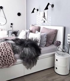 Beautiful soft colors in bedroom