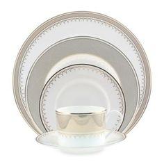 Nikko Lattice Gold Dinnerware - BedBathandBeyond.com