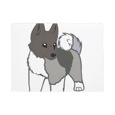 #akita cartoon doormat - #doormats #home & #living