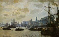 Oscar Claude Monet, The Port of London, 1871