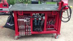 Ideas, Designs and Pictures for building your DIY Welding Table or Cart. Welding Table Diy, Welding Cart, Welding Rods, Diy Table, Metal Projects, Welding Projects, Table Frame, Table Accessories, Table Plans