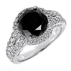 Black diamond ring Black Diamond Jewelry, Diamond Jewellery, Black Wedding Rings, Diamond Engagement Rings, Diamond Rings, Jewelery, Rings For Men, Fine Jewelry, White Gold